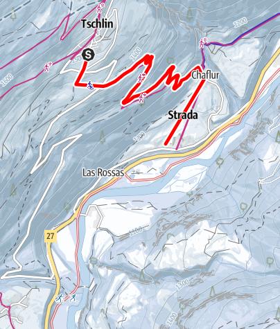 Karte / Tschlin - Strada