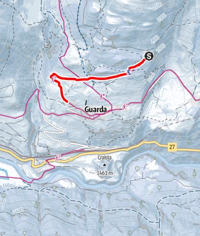 Karte / Plan dal Növ - Guarda
