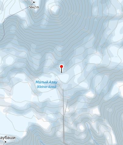 Karte / Diesel Hut 4090m, Blick nach Süden.