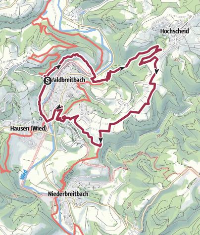 Kaart / Wäller Tour Bärenkopp