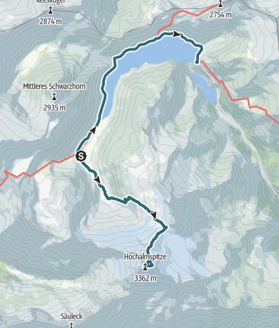 Karte / Über das Großelendkees auf die Hochalmspitze, 3360m