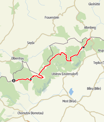 Karte / RR ERZ E08 Etappentour Route Sächsische Mittelgebirge und Erzgebirgsradmagistrale Etappe 08