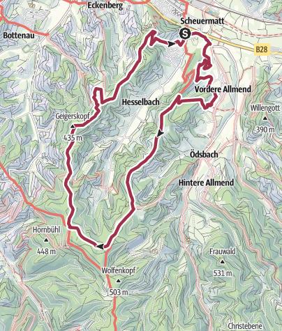 Karte / Oberkircher Brennersteig