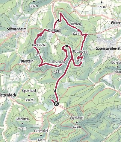 Map / RPW Dimbacher Buntsandsteinweg ab Cramerhaus