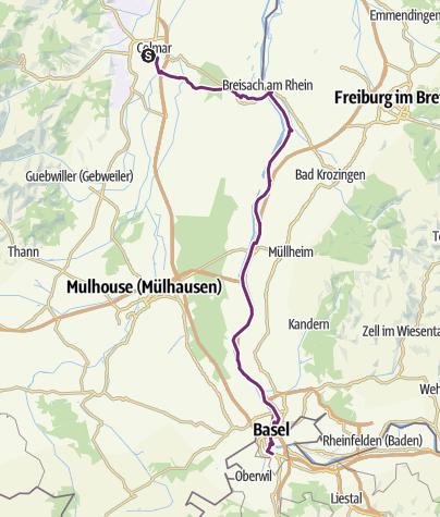 Karte / Kopenhagen - Basel (18/18): Colmar -Basel