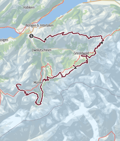 מפה / Tour of the Jungfrau7-14/ 9/2019