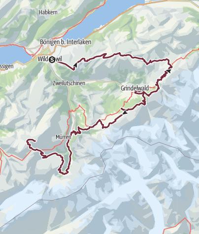 Kartta / Tour of the Jungfrau7-14/ 9/2019