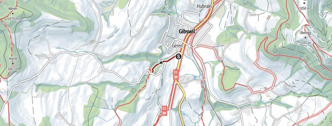 Mappa / Wissengubel Wasserfall
