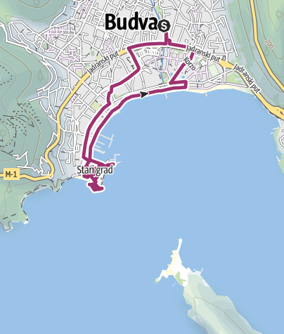 Karte / Besichtigung Altstadt von Budva ab Kamp Budva
