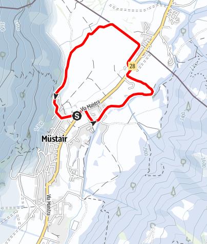 Map / Kloster St. Johann – Clüs- Fradatsch – Kloster St. Johann