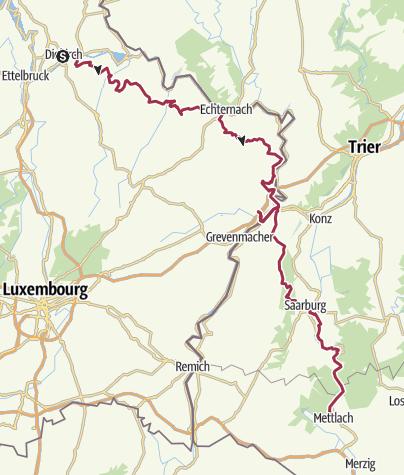 Map / Totaalroute Diekirch-Merzig 108 km October 16, 2019