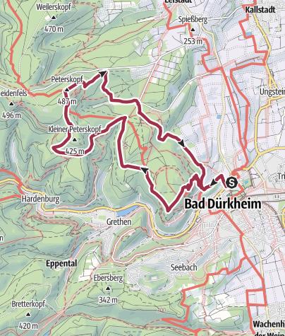 Map / 13km Glühweinwanderung DÜW WFK 21.12.19