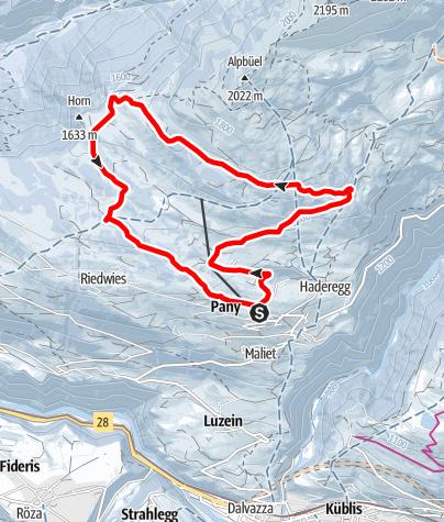 Map / Winterwanderweg Panoramarunde Galondis