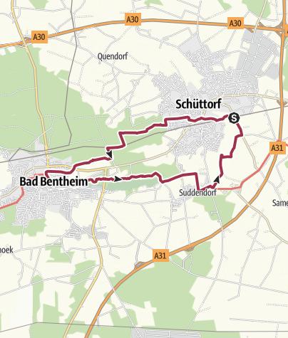 Karte / 20191031 E11 D3 Bad Bentheim - Schüttorf