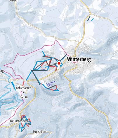 Karte / Skiliftkarussell Winterberg
