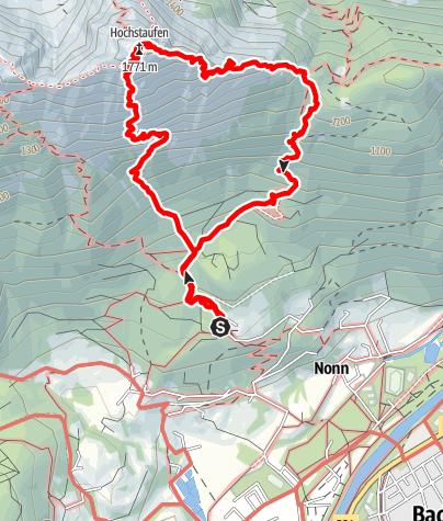 Map / Hochstaufen-Rundtour, Goldtropf und Steinerne Jager