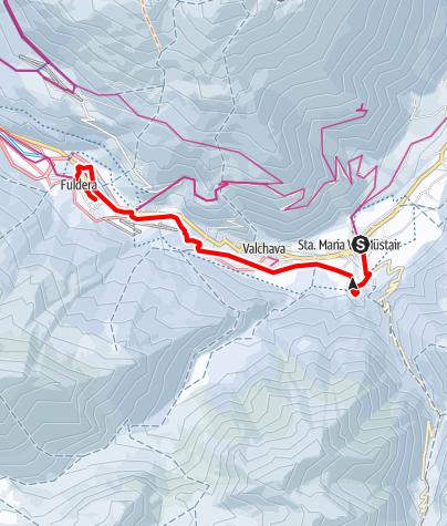 Map / Winterwanderweg Sta. Maria – Valchava – Fuldera