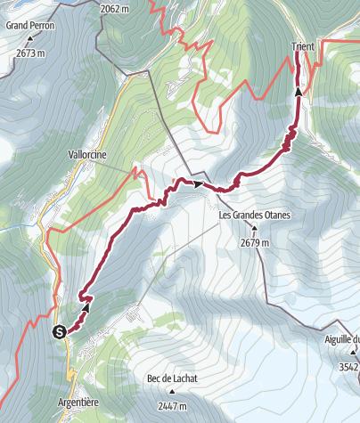 Map / TMB J2 - Tré Le Champ - Trient