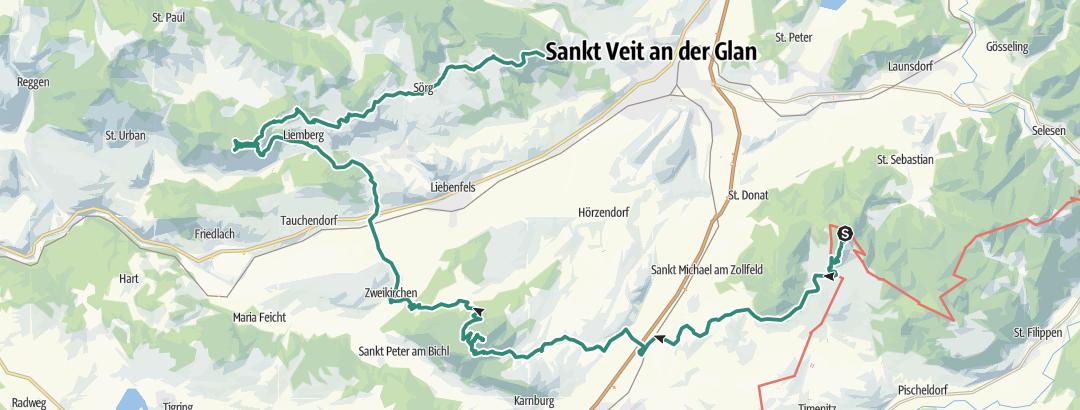 Karte / Vierbergelauf Kärnten