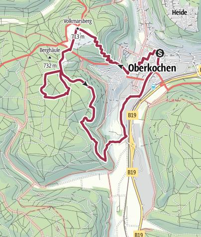 Map / Vilotel Volkmarsberg Schmiedefelsen Kochersprung