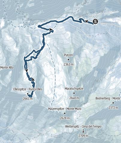 Karte / Ellespitz (2.661 m) - Beliebter Skigipfel im Pflerschertal