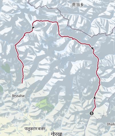 Karte / Rund um den Manaslu (T162) - Himalaya Fair Trekking (HFT), https://himalaya.de/rund-um-den-manaslu/