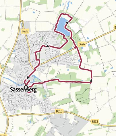 Map / B+H-2019-11-27: Sassenberg - Feldmarksee