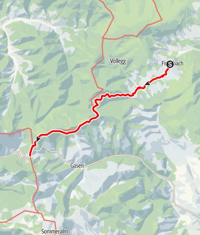 Karte / Etappe 23 Vom Gletscher zum Wein Nordroute Fischbach - Am Straßegg