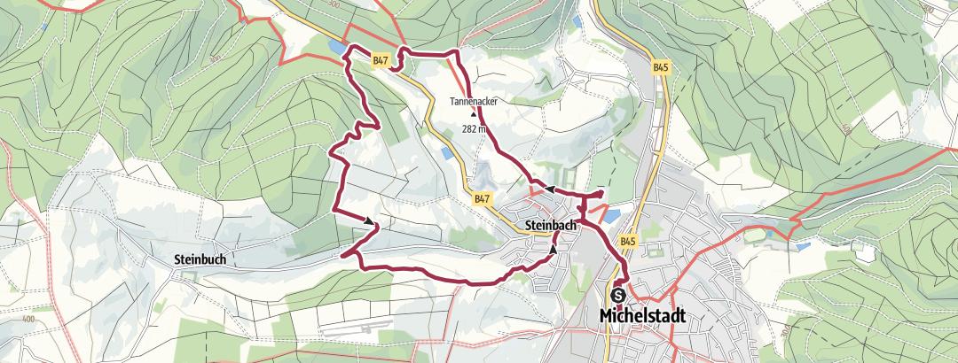 Carte / Michelstadt-Steinbach,Basilika-Rundweg