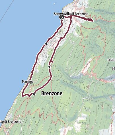 Map / Garda Veronese:El Balot Taca via, S.Antonio delle Pontare ed i presepi di Campo