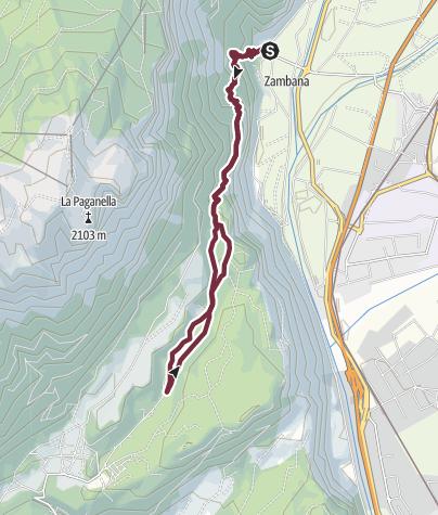 Hartă / Gazza-Paganella: Il sentiero dei Desfamatrimoni