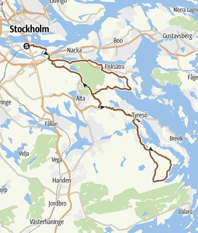 Karte / Bikerunde ab Södermalm