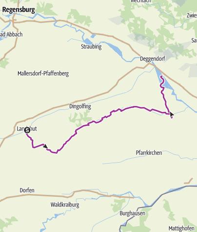Carte /  Radrunde - Isarradweg - Vilstalradweg - Tag 2