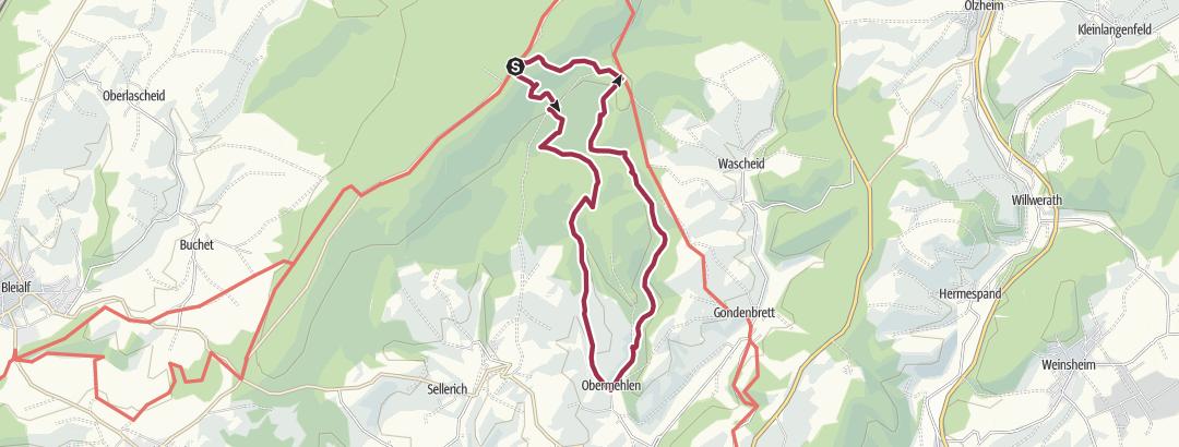 Mappa / Blockhaus `Schwarzer Mann   `Rundweg