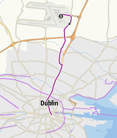Karte / Radtour Irland 2014, Tag 01