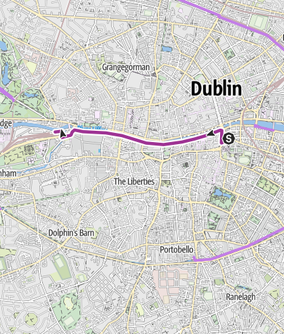 Karte / Radtour Irland 2014, Tag 02 a