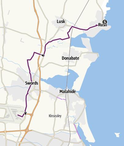 Térkép / Radtour Irland 2014, Tag 20