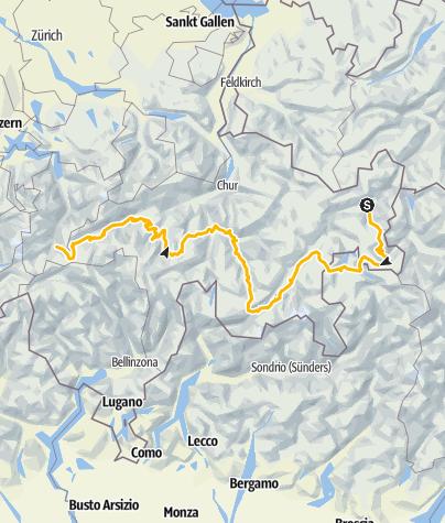 Karte / 001 Alpine Bike - Gesamttour