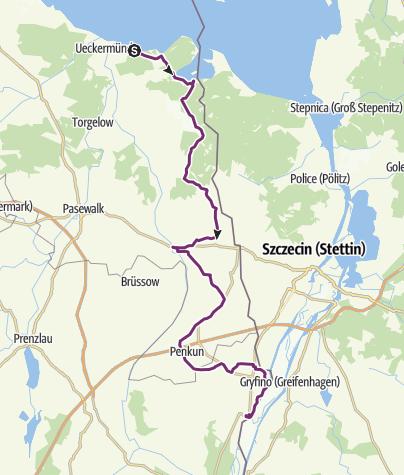 Karte / Radtour 2009, Tag 3: Greifswald-Oder-Neiße-Prag-Parsberg