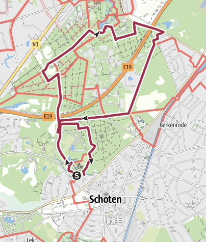 Mapa / Schoten and Peerdsbos