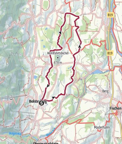 Karte / Wanderung am 1. Januar 2020 um 10:37