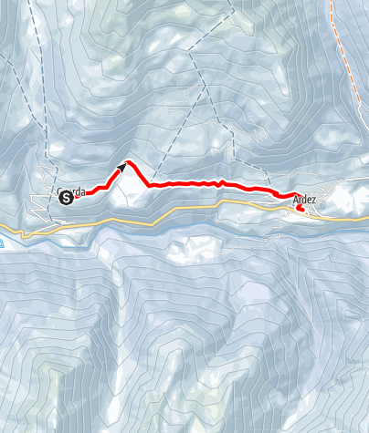 Map / Via Engiadina Winter, Etappe 1 Susch – Lavin – Guarda – Ardez