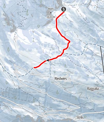 Map / Schlittelweg Tratza - Pany