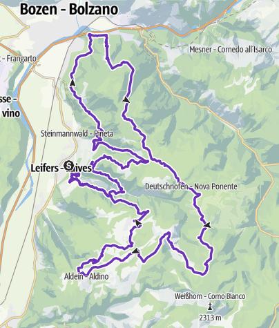 Karte / Laives Leifers Trail Ultra 81km