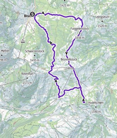 Karte / Tourenplanung am 9. Januar 2020