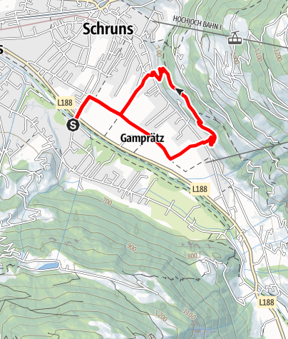 Karte / Schrunser Feld-Runde