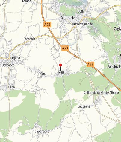 Cartina / Torre e chiesetta di Sant'Andrea di Mels