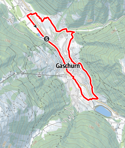 Karte / Ortsrunde Gaschurn