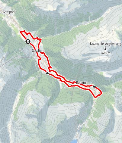 Karte / Gaschurn-Partenen Runde