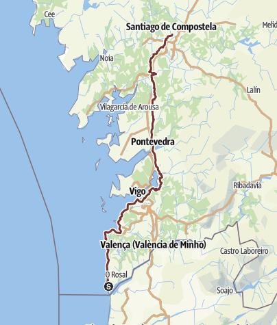Carte / Camino Portugal 2 A Guarda -Vigo-SdC